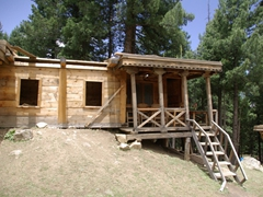 A typical cabin at Fairy Meadows Cottages (there are 9 wooden cabins and 32 tents)