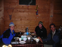 Dinner at Fairy Meadows Cottages