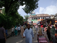 "A snapshot of the ""mall"", Murree's main street in town"
