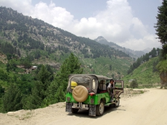 A 4x4 jeep is the only way to go when exploring Northern Pakistan