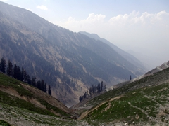 View looking back towards Dir at the Lowari Pass