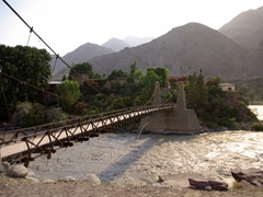 To reach the Royal Naghar Fort (which belongs to the former rulers of Chitral), you have to cross over this bridge