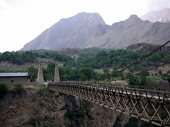 To reach the 3 Kalasha Valleys, we had to cross this bridge