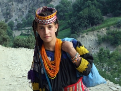 This girl asked for her photo to be taken, and we have to agree that the features of the Kalasha people could easily have come from Alexander the Great's troops