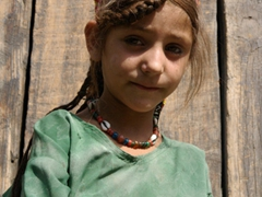 Portrait of a Kalasha girl; Birir Valley
