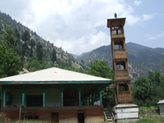 The Kalasha are non-Muslim, but many have converted and mosques such as this one are sprouting up all over the Kalasha Valleys