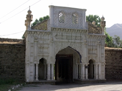 "Main entrance to the mehtars' palace-fortress, aka ""Chitral Fort"""