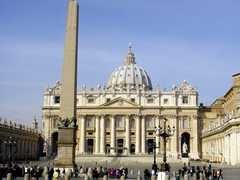 View of St. Peter's Square, which can accommodate up to 400,000 people for special events like the election of a new Pope