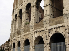 Exterior view of the Colosseum, perhaps the most famous building in the Roman Empire