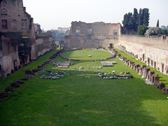 Stadium of Domitian's Palace, located just north of the Palace of Septimius Severus; Palatine Hill