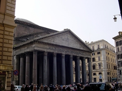 Built more than 1800 years ago, the Pantheon building still stands strong. Built by Emperor Hadrian in 118 AD, this was originally a temple for Pagan gods. The Pantheon's dome was the world's largest for over 13 Centuries