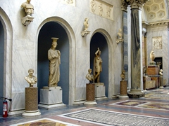 Interior view of one of the Capitoline Museums which are spread over two palazzos on either side of the Campidoglio Square