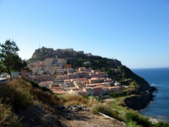 "Castelsardo is a gorgeous medieval fishing village full of pastel-hued houses stacked on a promontory that juts out onto the Mediterranean Sea…a Sardinia ""must see"""