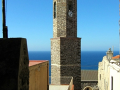Bell tower of Cattedrale di Sant' Antonio Abate; Castelsardo