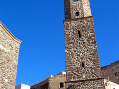 View of the tower of Cattedrale di Sant' Antonio Abate; Castelsardo