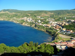 Sardinia is a hiker's delight, with sweeping coastal views. This is taken from the scenic town of Castelsardo