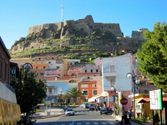 View of the castle and the sprawling village that grew around it; Castelsardo