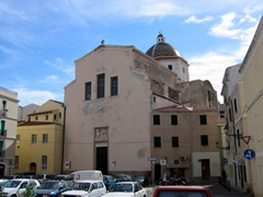 Parking lot view of San Michele Church; Alghero