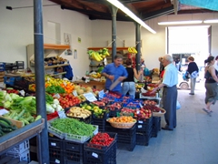 Fruit and vegetable market; Alghero