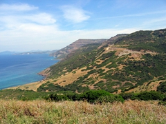 Sweeping vistas on our scenic drive between Alghero to Bosa