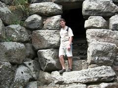 Robby exploring Nuraghe Santu Antine