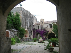 Picturesque inner courtyard, Orosei