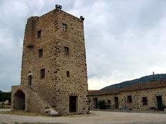 Medieval chapel courtyard; Bosa