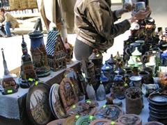 Porcelain trinkets, Riga souvenir stand