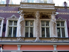 An example of the Art Nouveau movement that spread through Riga in 1899