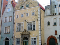 "The 15th Century ""The Three Brothers"" are the oldest residential stone buildings in Riga, and are excellent examples of medieval architecture"
