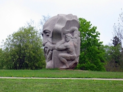 Interesting sculpture, Daina Garden, Sigulda