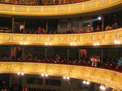 Interior view of the Latvian National Opera, Riga