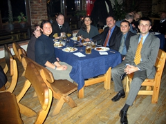 Group dinner at a Rescuer/Medcuer pre-exercise meeting; Klaipeda