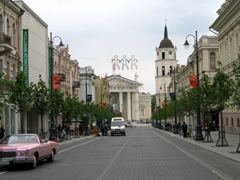 View of downtown Vilnius