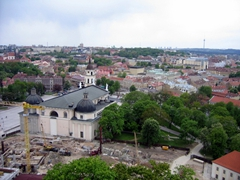 Rear view of the Cathedral Square, Vilnius