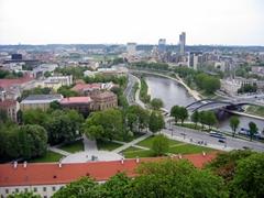 Bird's eye view of Vilnius new town
