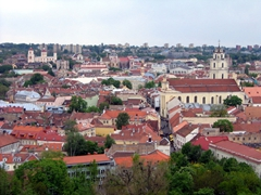 View of the Vilnius skyline as seen from Gediminas Tower