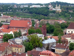 Hike up to Gediminas Tower for a fine vista over beautiful Vilnius