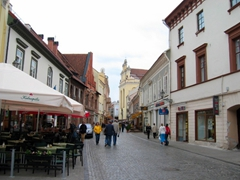 A stroll along Vilnius' cobblestoned streets is a must when visiting this lovely city