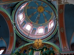 Interior dome of the Russian Orthodox Church of the Holy Spirit, Vilnius