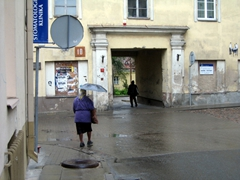 Locals prepared for the dreary weather in Vilnius