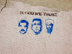 Lithuanian humor spray painted on Vilnius wall