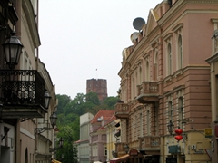 View of Gediminas Tower from Vilnius Old town