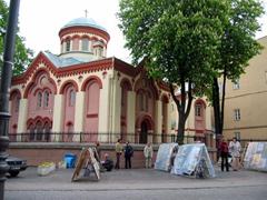Orthodox church on Castle Street, Vilnius