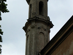 An old church belfry is quite a common sight in Vilnius which boasts dozens of churches