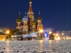 Night view of Saint Basil's Cathedral; Red Square