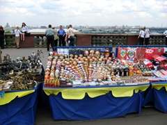 Souvenir stand near Moscow State University