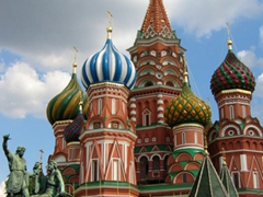 The enduring symbol of Moscow, Saint Basil's Cathedral was ordered built by Ivan the Terrible to commemorate his victory over the Tartars in Kazan in 1552. We love the multi-colored onion domes