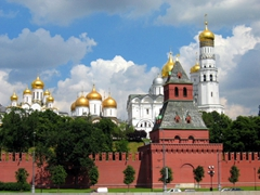 The Kremlin's Cathedral Square (with its gilded onion domes) is quite a sight to behold