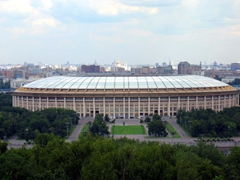 Luzhniki Stadium is the biggest sports stadium in Russia with a capacity of almost 80,000 seats